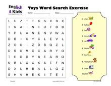 ESL Kids Worksheets Toys Vocabulary Worksheets