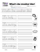Worksheets Weather Worksheets For Kids esl kids worksheet weather worksheets spelling writing