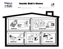 Worksheets Esl Preposition Worksheets esl kids worksheets home and prepositions bobs home1 home2 prepositions