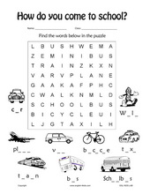 Worksheets Transportation Worksheets esl kids worksheets transportation cars train subway taxi